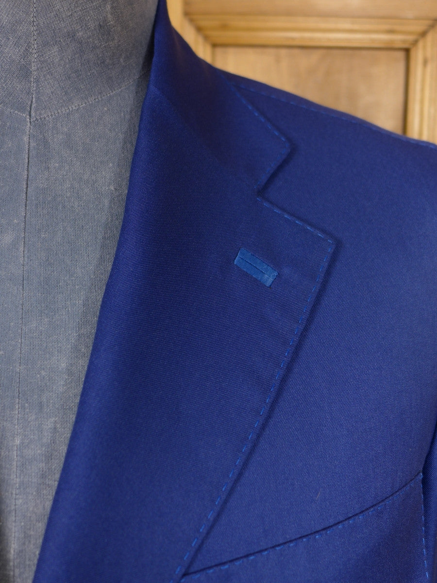 17/0445 (dc) stunning santarelli sartoria blue luxury cotton sports jacket blazer 42 short