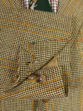 17/0496 (dc) immaculate john kent savile row bespoke heavyweight sporting check tweed jacket 42 short