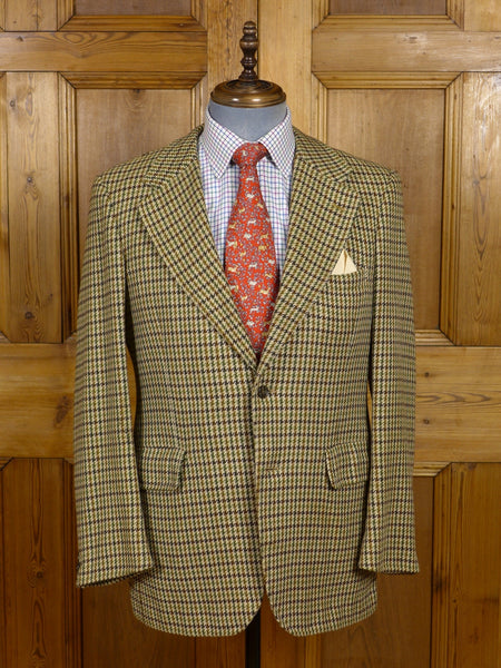 17/0530 vintage burberry 100% cashmere green / brown gun club check sports jacket 40 regular