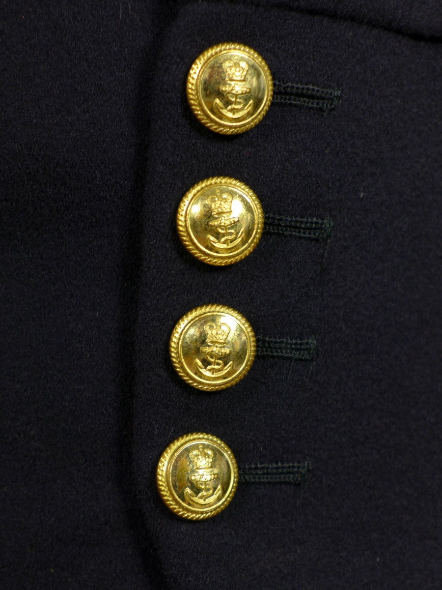 17/0569 vintage gieves savile row royal navy officer's dark blue shawl doeskin wool waistcoat 36 regular