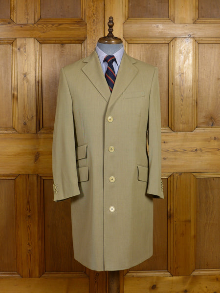17/0571 (pt) immaculate modern burberry 100% wool stone twill covert style coat overcoat 36-38 short to regular