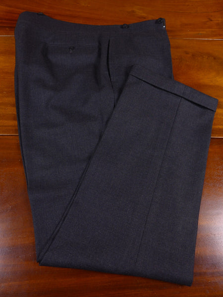 17/0584 immaculate 1950s 1960s vintage savile row bespoke grey worsted high-rise trouser 41 short regular long