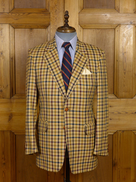 17/0653 (pt) near immaculate crombie wool & cashmere house check sports jacket 38-39 regular