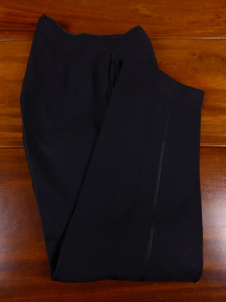 17/1051 vintage 1930s 1940s sandon & co savile row bespoke black worsted high-rise evening trouser 32 short regular long