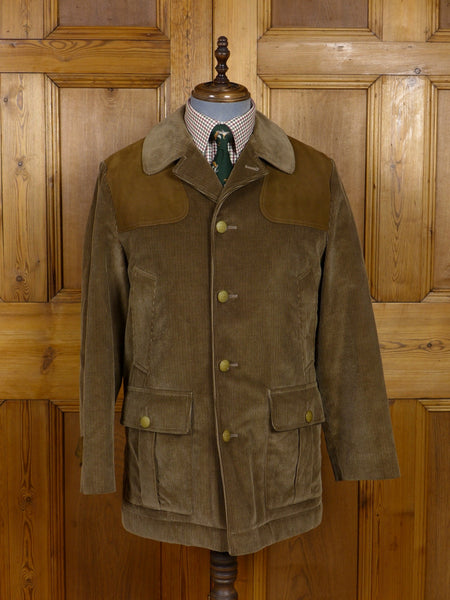 17/0671 near immaculate invertere for daks green corduroy shooting jacket 40-42 regular