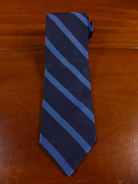 17/0740 immaculate faconnable navy / royal blue repp silk tie