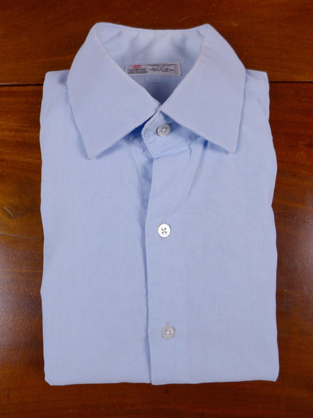 17/0743 (pt) vintage turnbull & asser bespoke pale blue cotton voile double cuff shirt 16.5 / 35