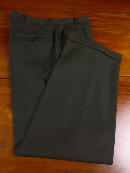 17/0752 (pt) near immaculate tailor made dark green cavalry twill trouser 30 short