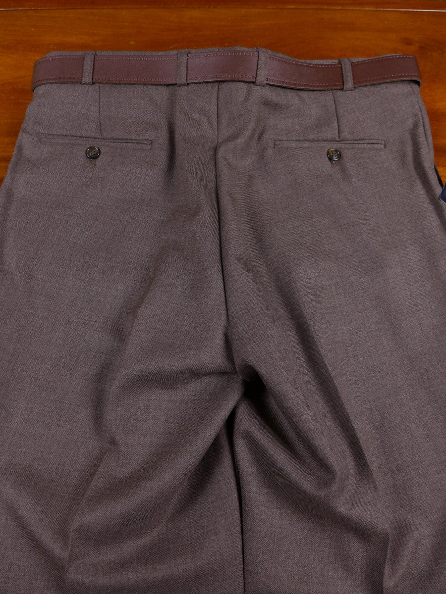 17/0831 deadstock unworn w/ tags magee brown wool mix trouser w/ belt 36 short regular long