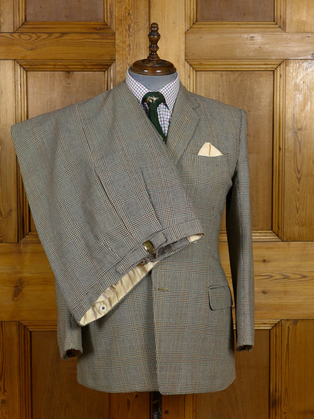 17/0837 (pt) vintage 1950s 1960s heavyweight worsted twist 3-piece town & country suit 41 short