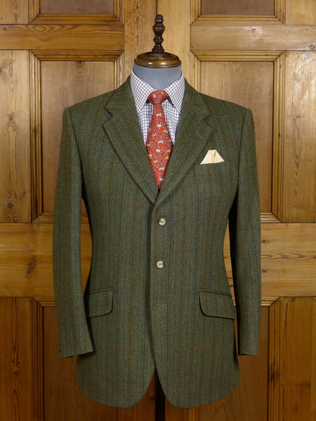 17/0849 (pt) near immaculate bladen green wp check tweed jacket 40 regular