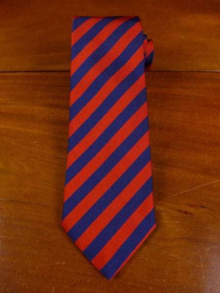17/0880 (pt) edson italian silk red / blue repp stripe tie