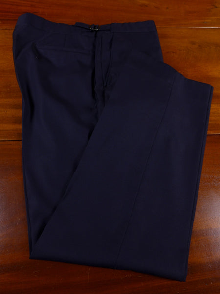 17/0897 richard james savile row navy blue wool trouser 36 short regular long