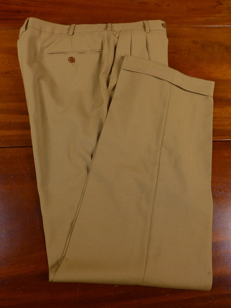 17/0898 gieves & hawkes savile row tan brown super 100s wool trouser 33 short regular