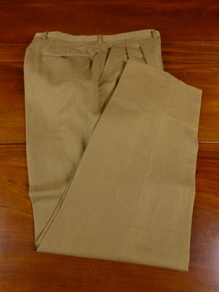17/0911 immaculate drapers luxury linen cotton & silk tan brown summer / travel trouser 33 short regular long