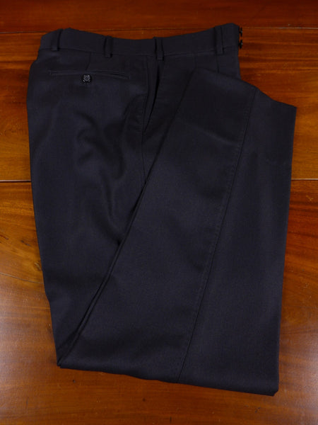 17/0914 immaculate quality tailor charcoal grey luxury wool trouser 35 short regular long