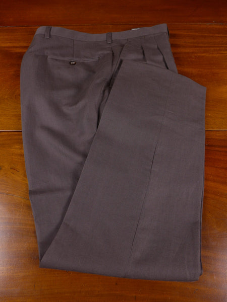17/0915 immaculate drapers luxury linen cotton & silk brown summer / travel trouser 33 short regular long