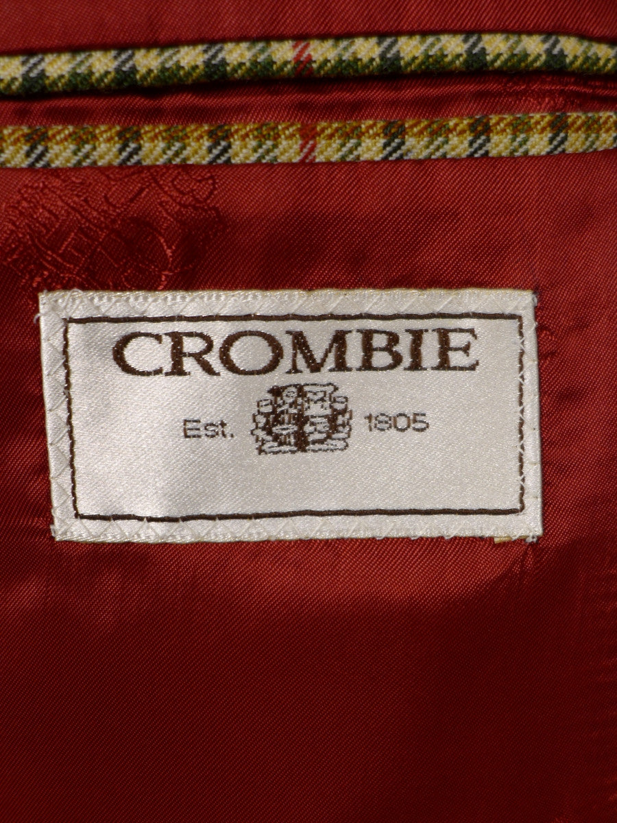 17/0917 crombie gun club check wool sports jacket w/ burgundy red linings 40 regular