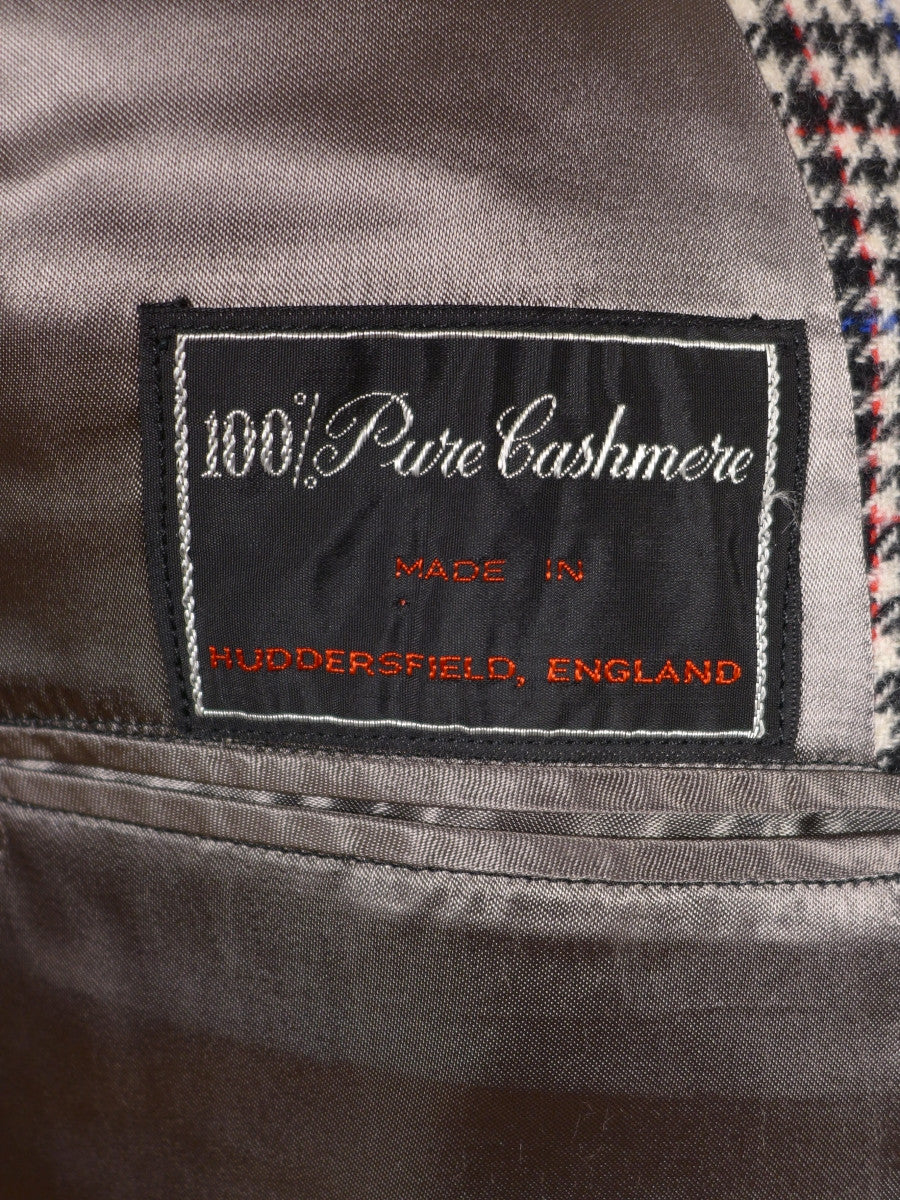 17/0918 immaculate vintage pierre cardin 100% cashmere houndstooth check sports jacket 44 regular