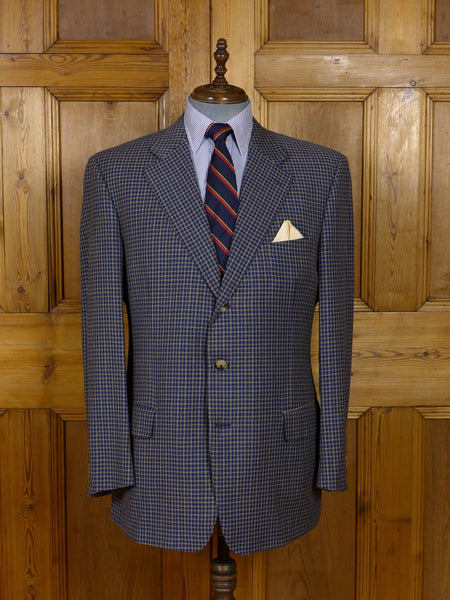 17/0919 (pt) immaculate vintage ermenegildo zegna blue check sports jacket 46 long