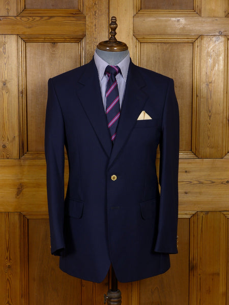 17/0920 near immaculate crombie luxury wool & cashmere navy blue blazer 39 regular