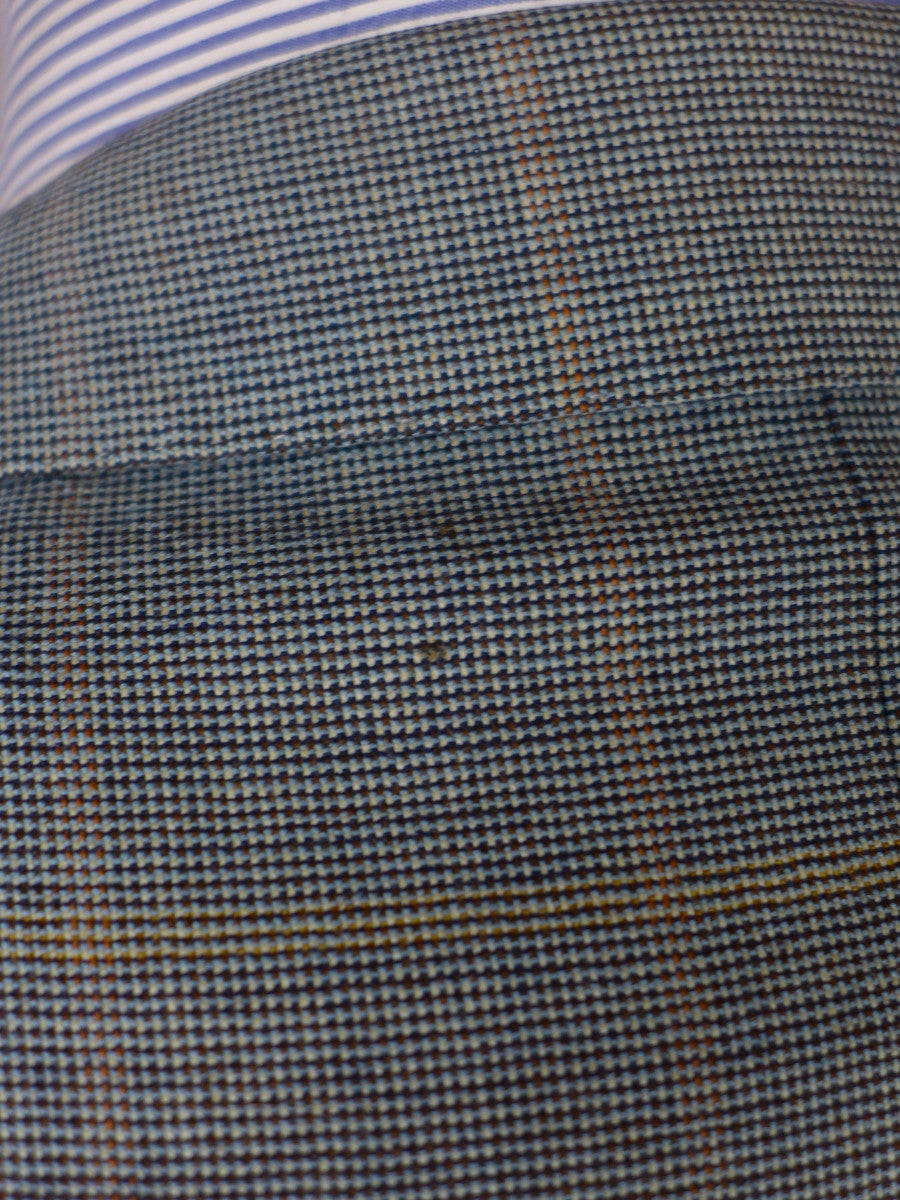 17/0921 (pt) vintage ermenegildo zegna grey windowpane check sports jacket 46 long