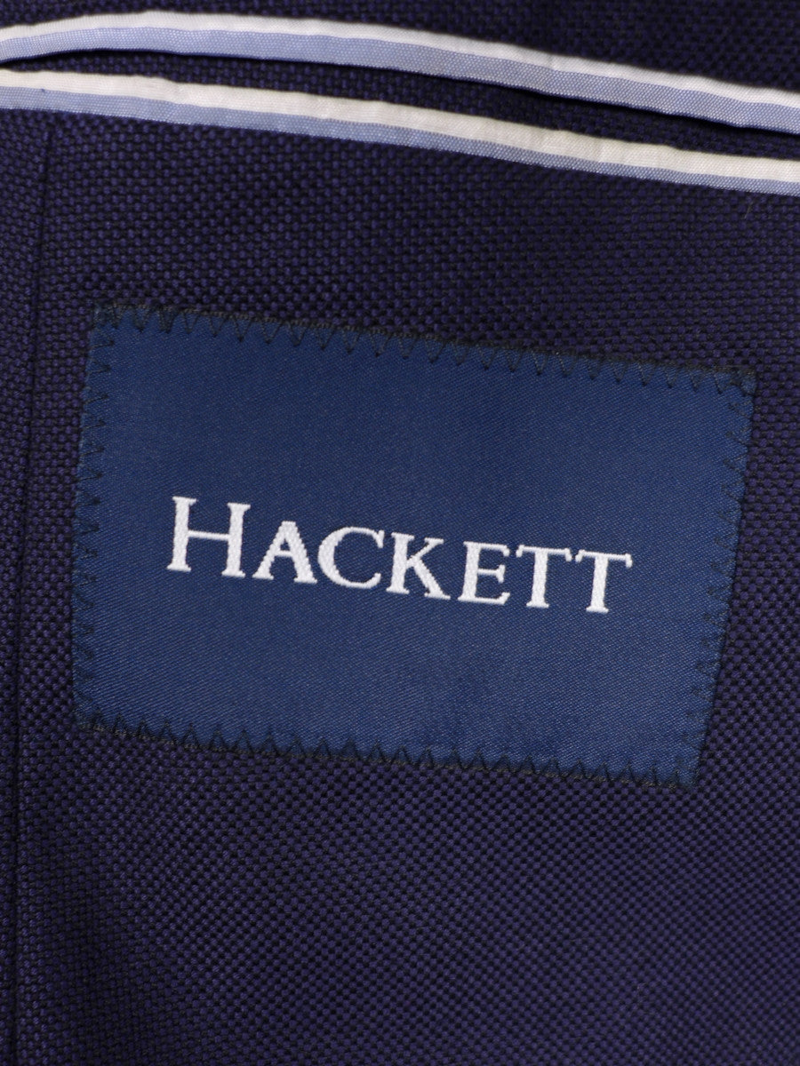 17/0928 immaculate hackett navy blue unlined cotton blazer 43 short