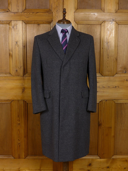 17/0935 genuine crombie heavyweight grey wool overcoat 42 short