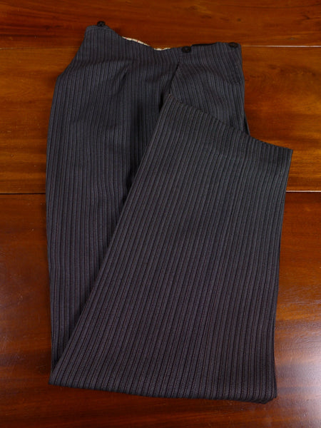 17/0963 vintage 1940s 1950s tom brown eton bespoke 'cashmere-stripe' high-rise morning trouser 31 short regular