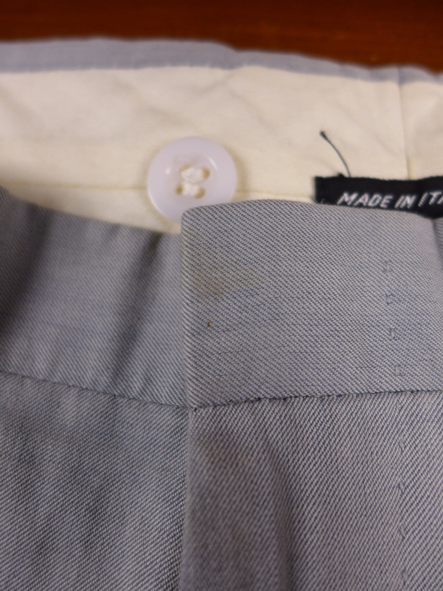 17/0993 bespoke tailored d'avenza italy cotton pale grey trouser 33 short regular long