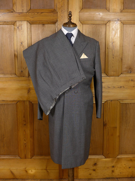 17/1057 (dc) vintage bespoke grey pick weave 3-piece morning suit 44 regular