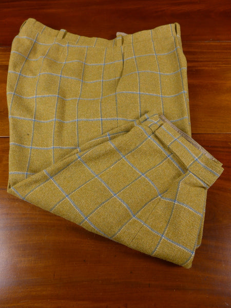 17/1075 airey & wheeler bespoke tailored bold windowpane check tweed shooting breeks 46