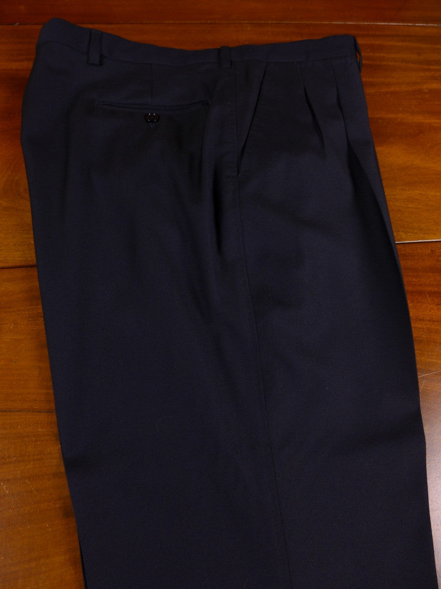 17/1129 santarelli sartoria luxury wool black trouser 36 short regular long