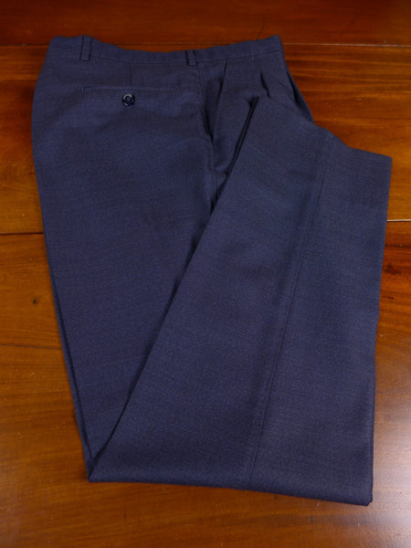 17/1132 santarelli sartoria luxury wool 2-tone blue trouser 35 short regular long
