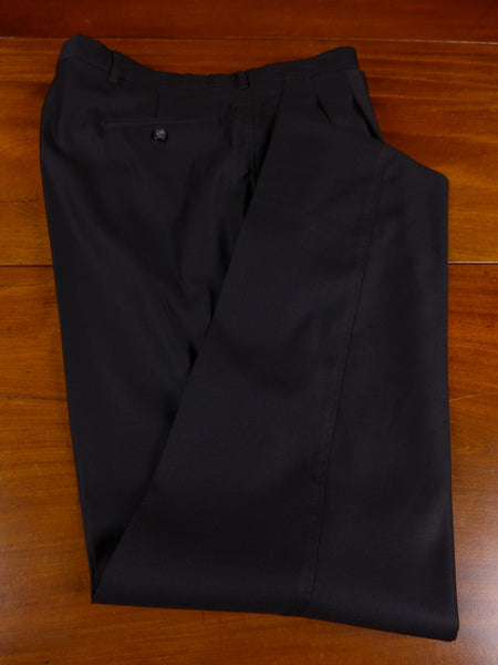 17/1135 santarelli sartoria luxury wool black trouser 36 short regular long