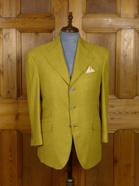 17/1152 (dc) santarelli sartoria loro piana luxury pure cashmere straw sports jacket blazer 42 short