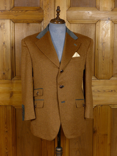 17/1159 (dc) santarelli sartoria drapers luxury pure cashmere russet brown sports jacket blazer 42 short