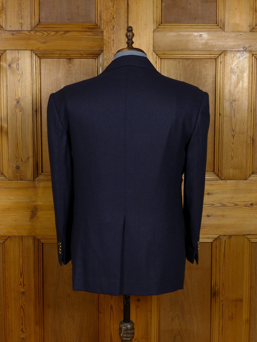 17/1169 (dc) santarelli sartoria loro piana luxury pure cashmere navy blue sports jacket blazer 42-43 short