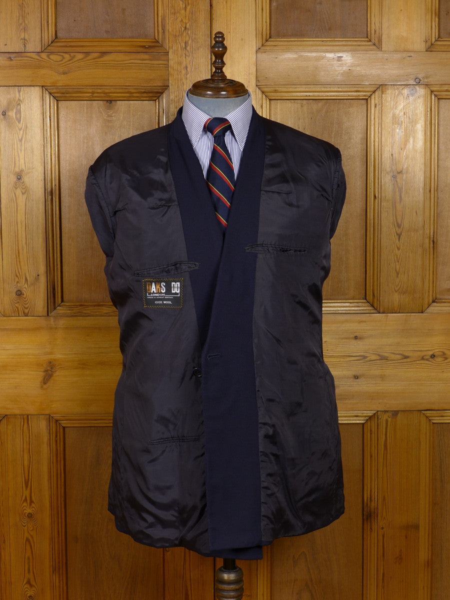 17/1244 vintage daks navy blue worsted d/b 'squadron' blazer 44 regular