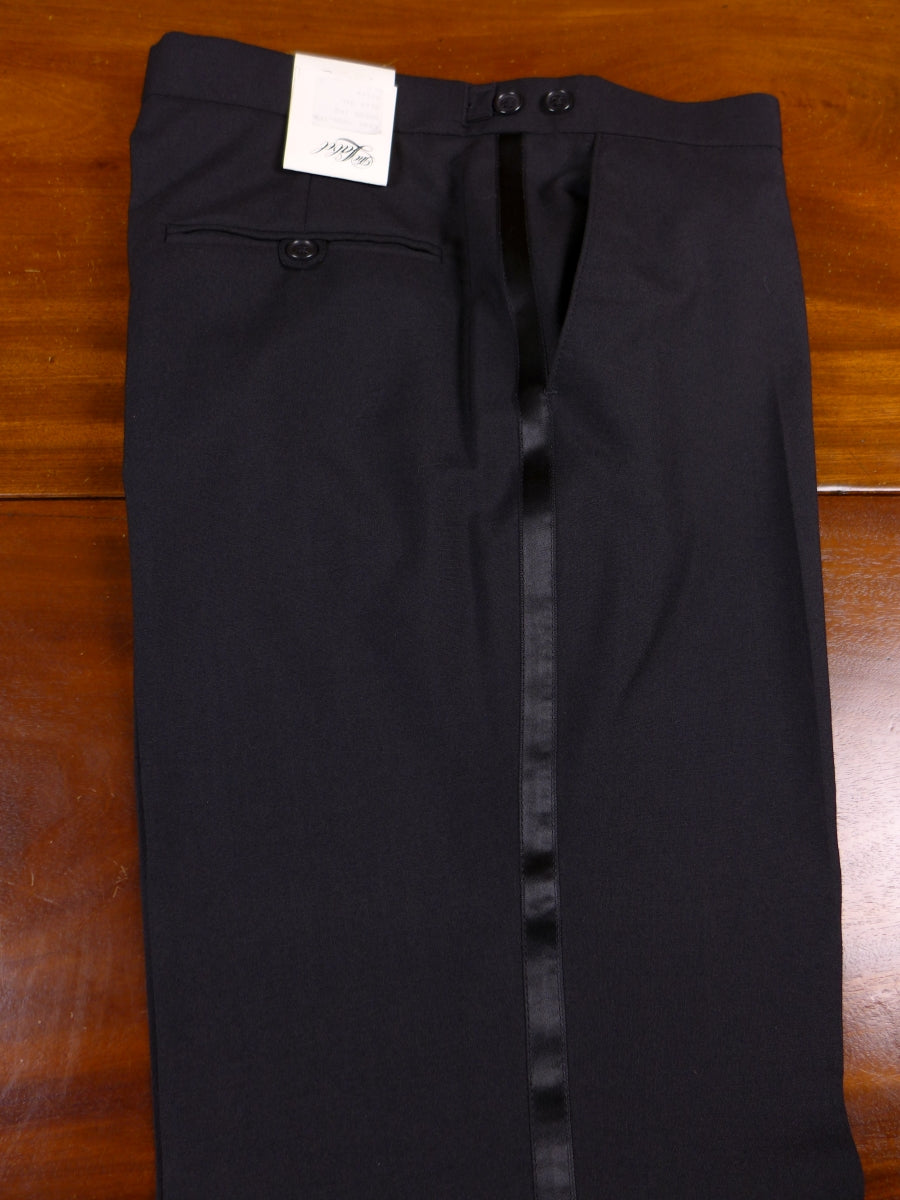18/0167 new w/ tags 'the label' lightweight black wool mix evening trouser 34 long