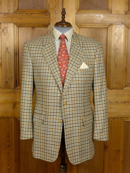17/1293 immaculate chester barrie savile row 100% cashmere gun-club check sports jacket 44 long