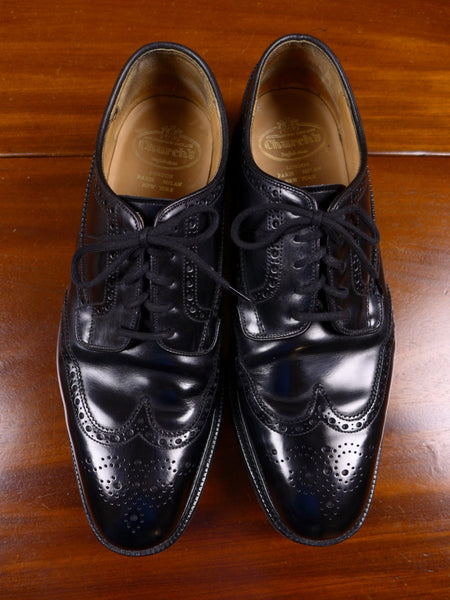17/1301 (pt) near immaculate church's grafton custom grade black leather brogue shoe 9.5f