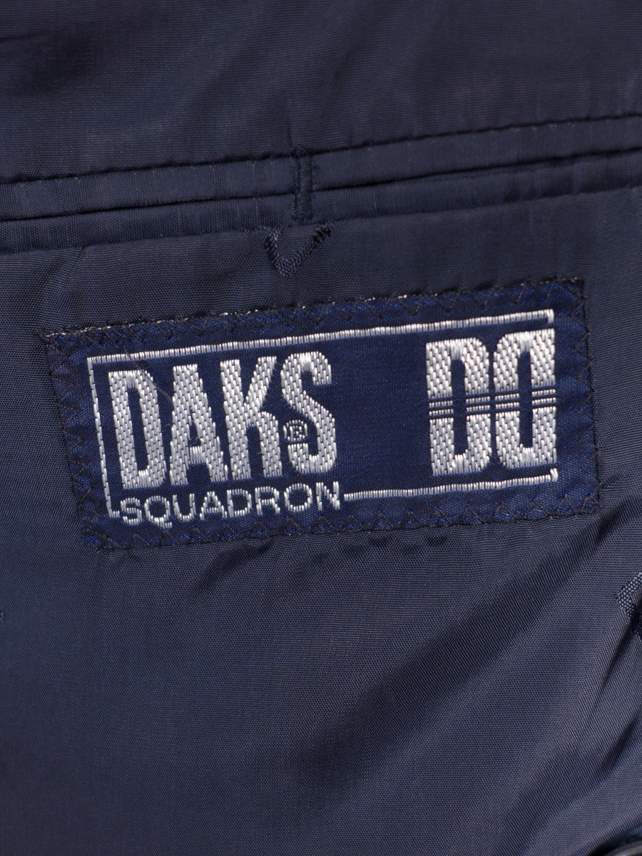 17/1461 (pt) vintage daks 100% wool navy blue d/b 'squadron' blazer 43-44 short to regular