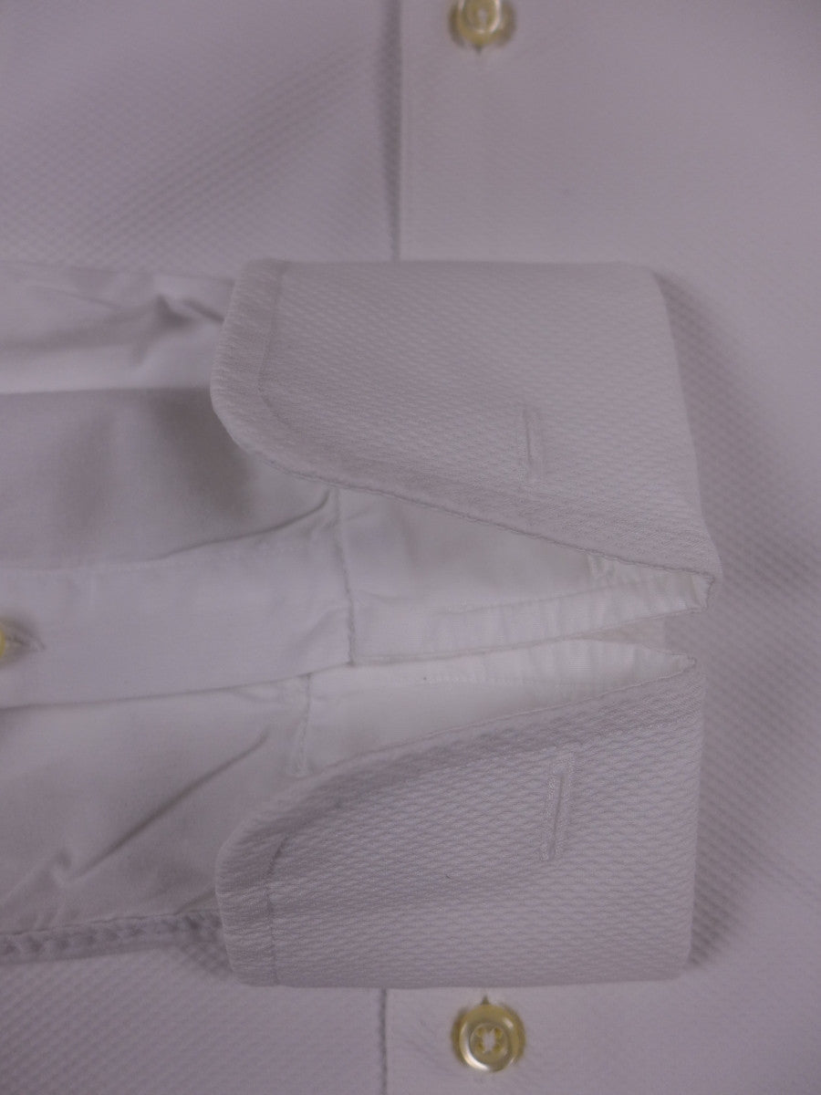 17/1517 (pt) immaculate austin reed white marcella evening shirt w/ AR suit bag 16.5