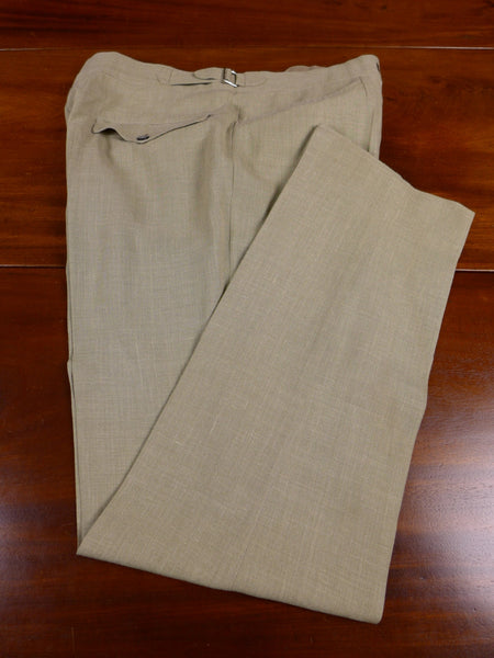 17/1504 immaculate vintage bespoke tailored lightweight linen mix trouser 34 short regular
