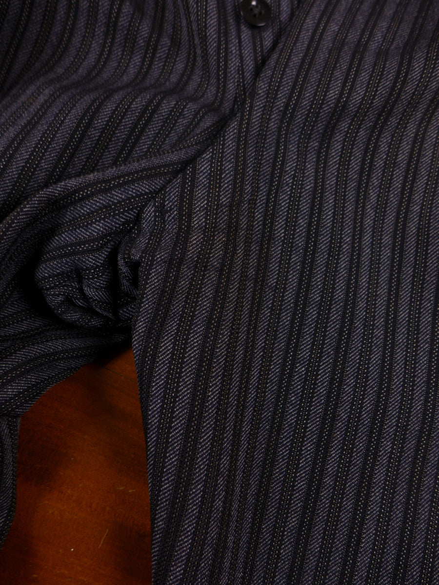17/1572 vintage 1950s savile row bespoke heavyweight worsted 'cashmere-stripe' high-rise morning trouser 38 short