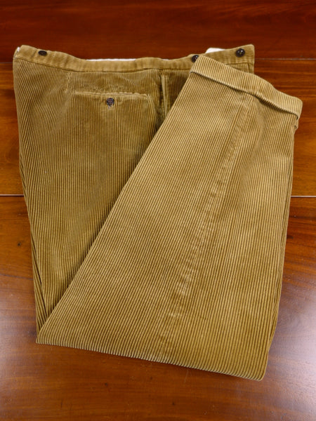 17/1571 vintage redmayne cumbria heavyweight tan brown high-rise corduroy country trouser 44 short regular long