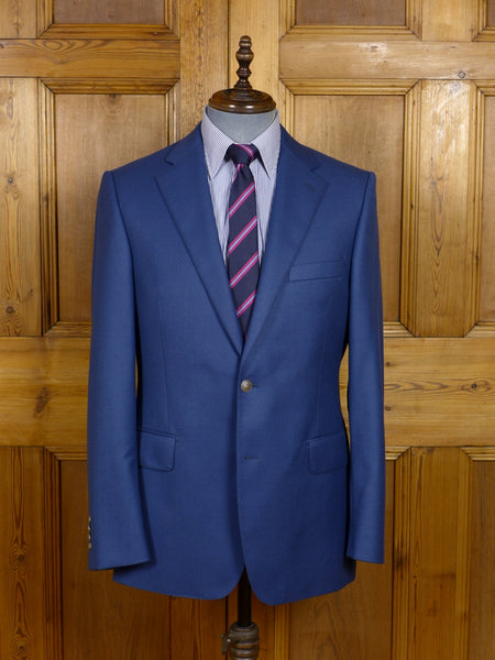 17/1595 (pt) immaculate rose & white savile row holland & sherry blue worsted blazer 41 regular