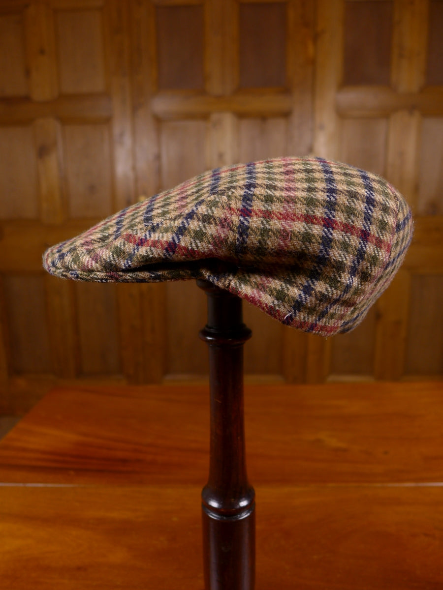 17/1537 houndstooth check tweed flat cap for goodwood revival 55 cms