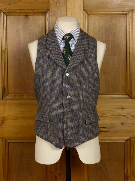 2006/14 'UPCYCLED' VINTAGE HEAVYWEIGHT HARRIS TWEED CLOTH COUNTRY WAISTCOAT 37-38R